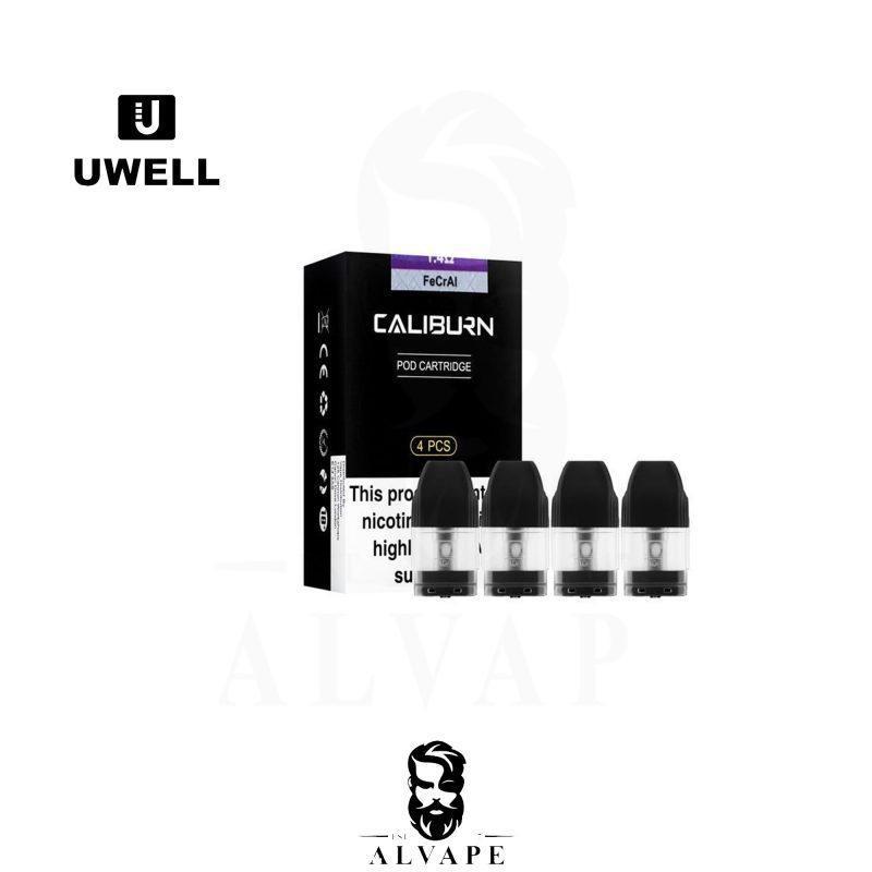 بودات يو ويل كاليبورن, بودات يو ويل كاليبورن 4 غيارات, Uwell Caliburn PODS,
