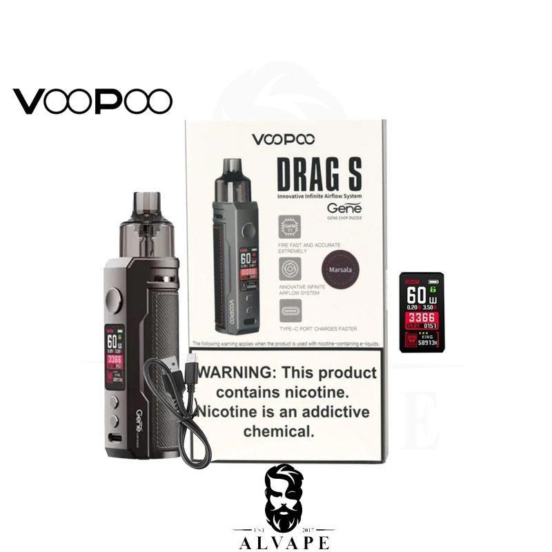 شيشة دراق اس, شيشة دراق اس VOOPOO DRAG S 60W,