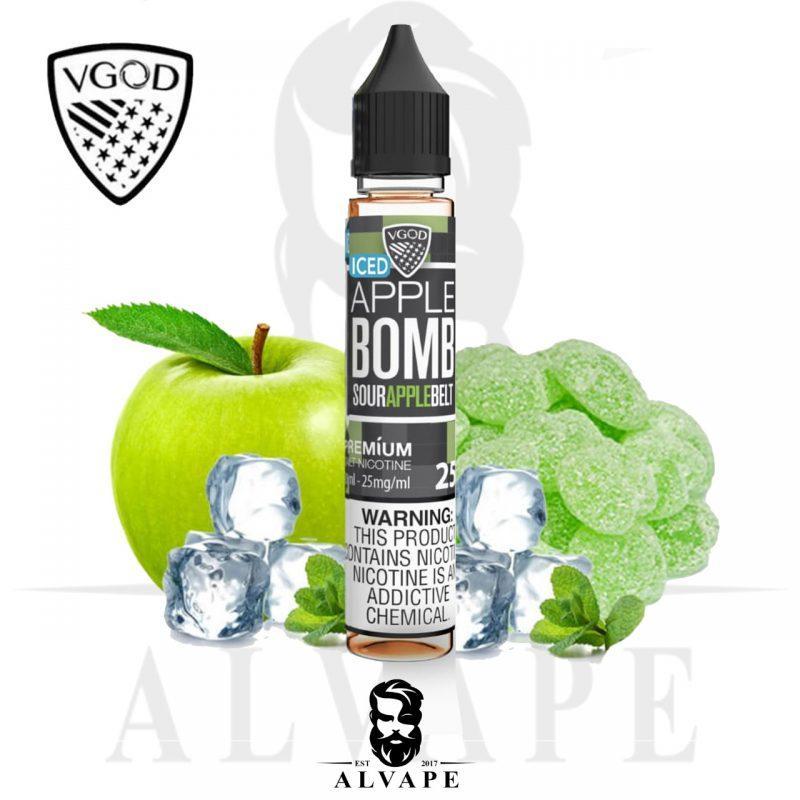 نكهة في جود, بومب ابل آيس سولت نيكوتين, VGOD APPLE BOMB ICED Salt,